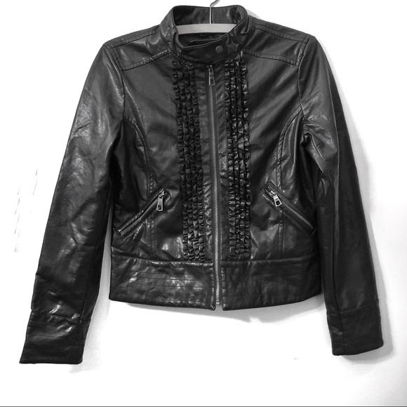Rampage Jackets & Blazers - NWOT Rampage Ruffle Moto Jacket